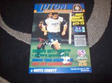 Luton Town v Notts County, 1996/97